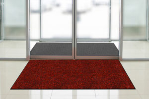 Red entry floor mat for rent