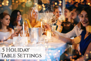 5 holiday table settings