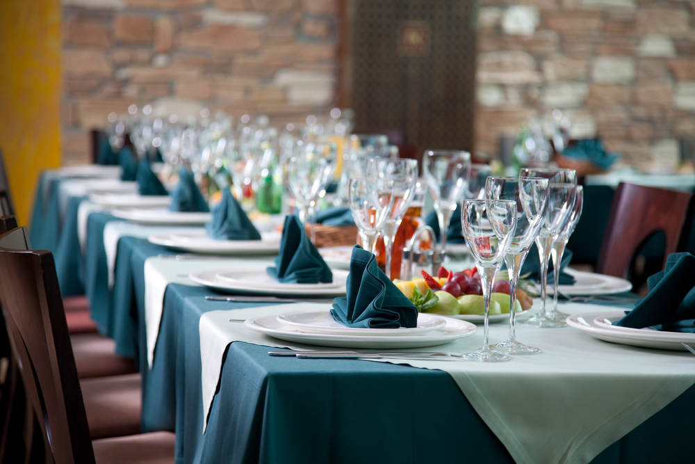 colorful restaurant table linen